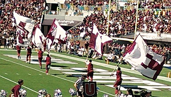 Mississippi State Bulldogs after a touchdown against Texas A&M.