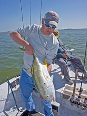 Eddie Smith caught this jack crevalle while fishing along the Intracoastal Canal near Bird Island.
