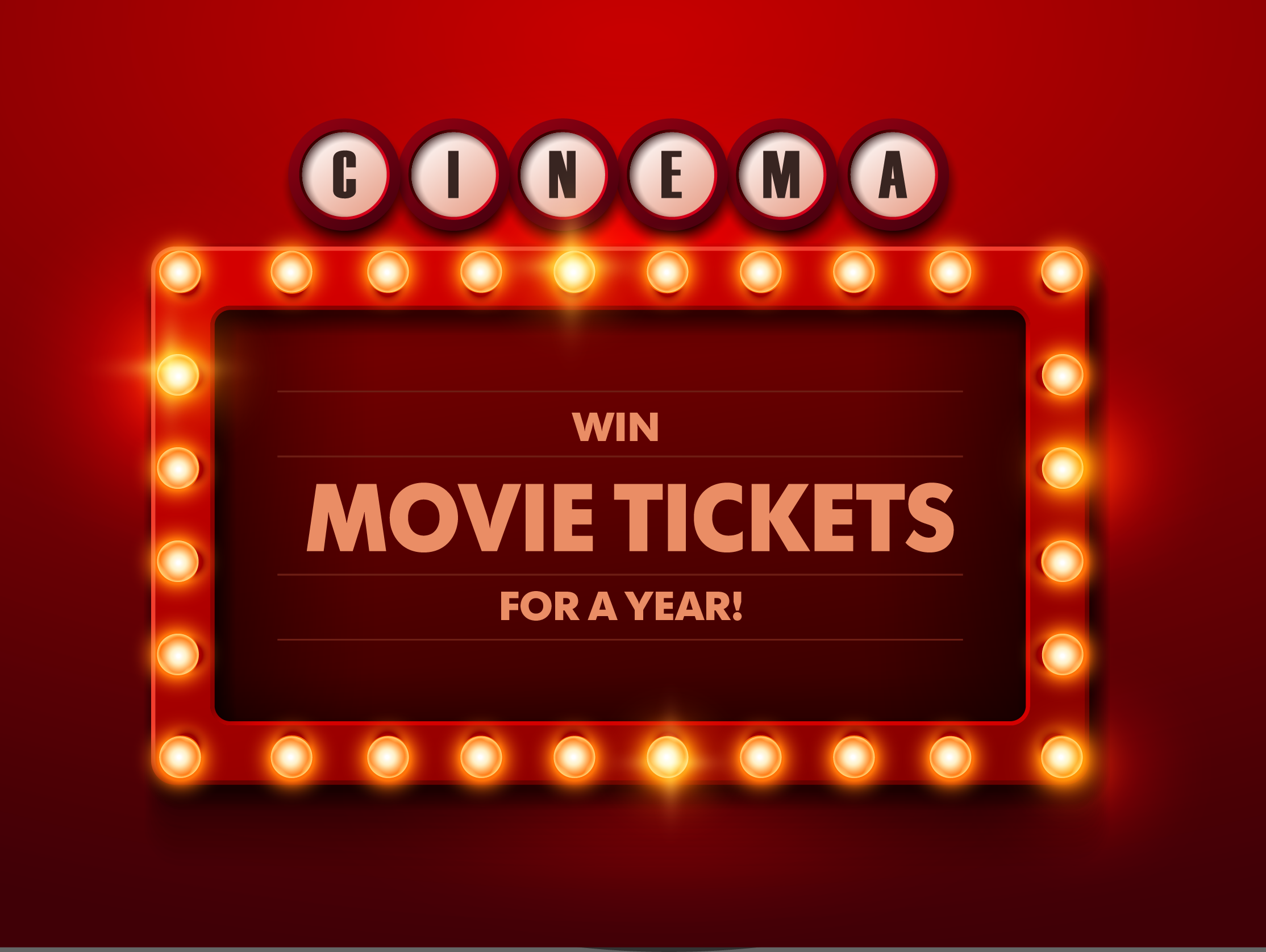 One Insider will enjoy FREE movie tickets all year long. Enter to win today!