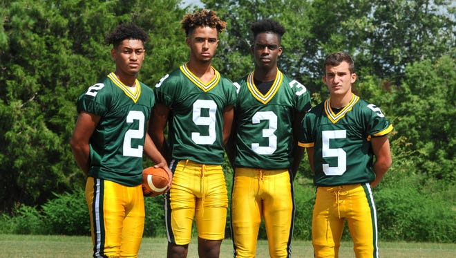 Noah Livings (9) is the sole returning starter on the Bulldogs' offense with new quarterback Corey Williams (2), Kaleb Carter (3) and Daniel Angelle (5) all looking to help replace the departed stars.