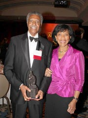 Hal Brown and his wife, LaVerne, when San Diego State University honored Brown with the Monty Award for success and achievement for outstanding alumni in 2012.