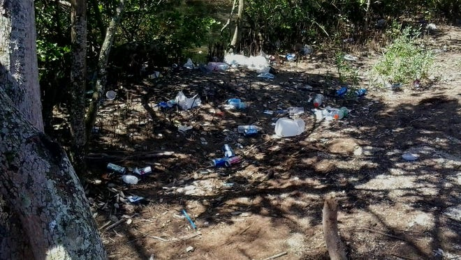 Litter has been a chronic problem at Haulover Canal in the Merritt Island National Wildlife Refuge.