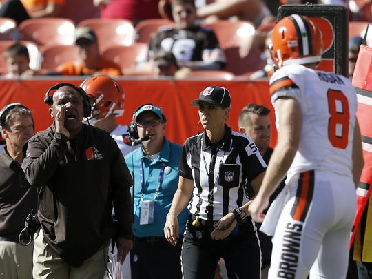 Cleveland Browns head coach Hue Jackson has already