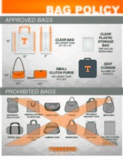 Neyland Stadium's clear bag policy will be enforced during Saturday's Orange and White Game.