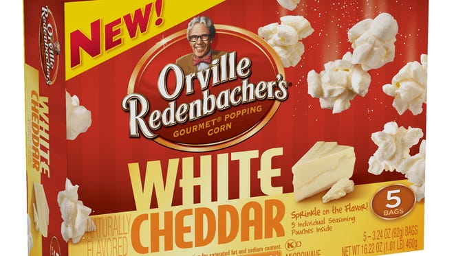 Orville Redenbacher's White Cheddar Flavor popcorn, a ConAgra Foods Inc. product