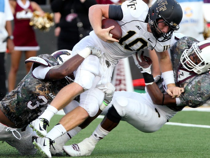 The University of Louisiana at Monroe wins 17-10 over Wake Forest in the Warhawks' season opener Thursday.