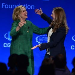 Hillary Clinton and daughter Chelsea at a Clinton Foundation event in March.