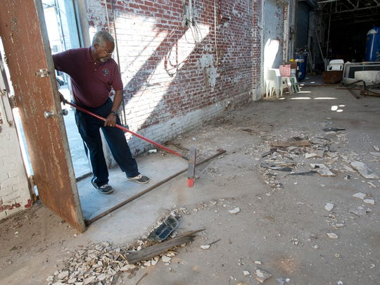 Property owner Rev. John Powell has been working to