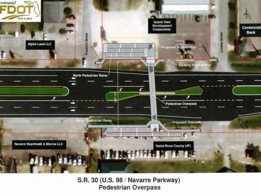 Navarre pedestrian overpass