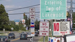 Border of Lakewood, NJ  along Route 9 on August 26,