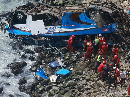 Death toll rises to 51 in Peruvian bus crash on 'Devil's Curve'