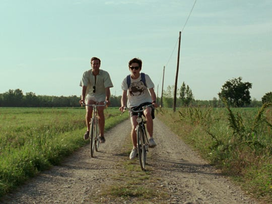 "Armie Hammer as Oliver  (left) and Timothée Chalamet as Elio in ""Call Me By Your Name."""