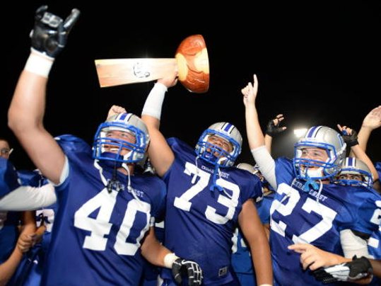 The 44th Cedar Bowl will kick off Friday at 7 p.m. at Earl Boltz Stadium. Cedar Crest has won the last three Cedar Bowls. (Jeremy Long -- Lebanon Daily News)