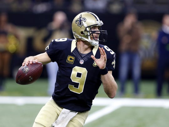 Saints quarterback Drew Brees drops back to pass during a Nov. 27 2016 game against the Rams in New Orleans.