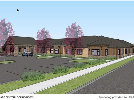 A preliminary rendering of a proposed memory care center in north downtown Salem.