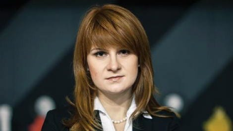 An undated handout picture of Maria Butina made available by the Press Service of the Civic Chamber of the Russian Federation.