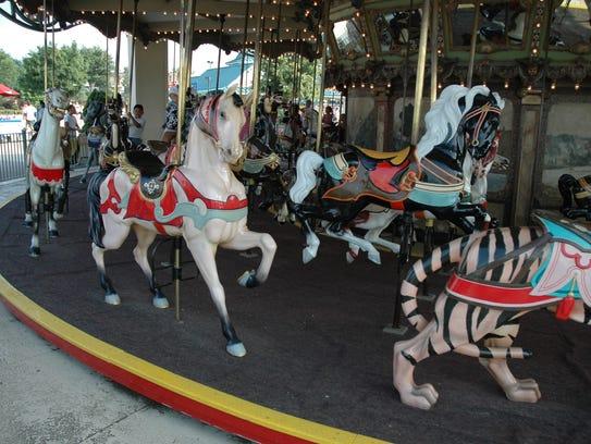 The 1921 Dentzel carousel from Lake Lansing Park South,