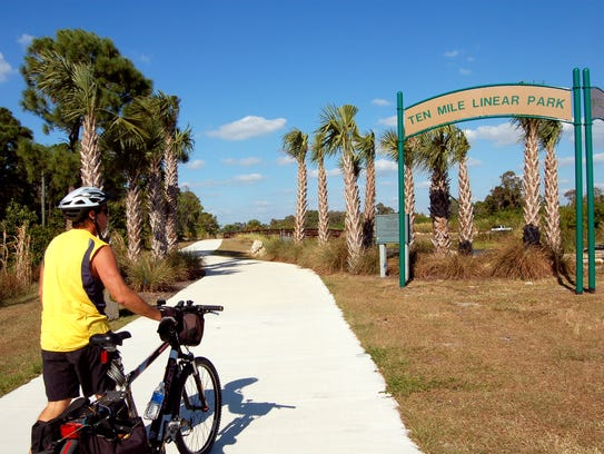 Ten Mile Linear Park gets its name from Ten Mile Canal,