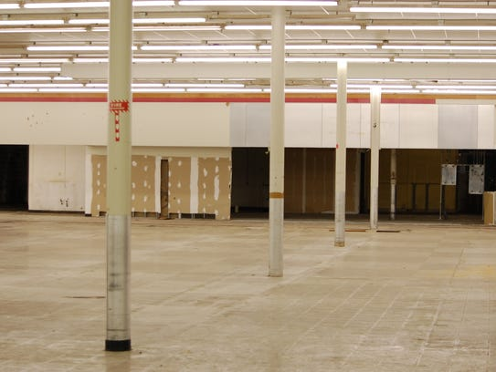 A view inside of the former County Market space in