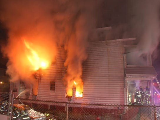 A fire gutted a home on Fulton Street in Paterson overnight.