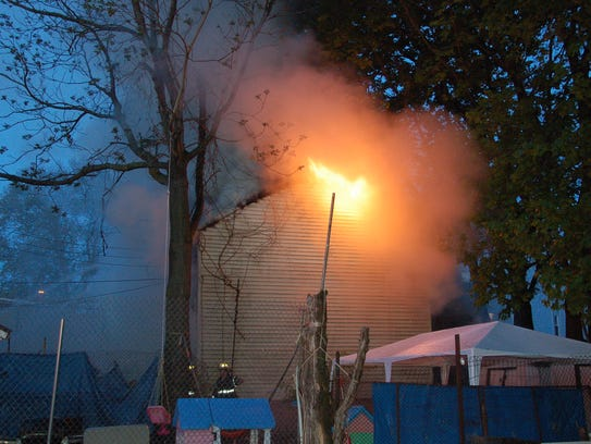 A fire broke out at a vacant home on Seeley Street