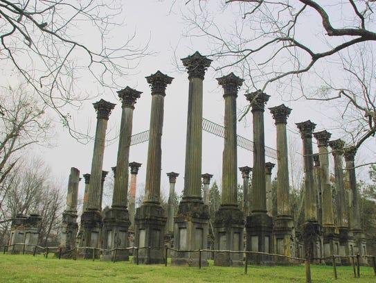 Twenty-three Corinthian columns are all that remain