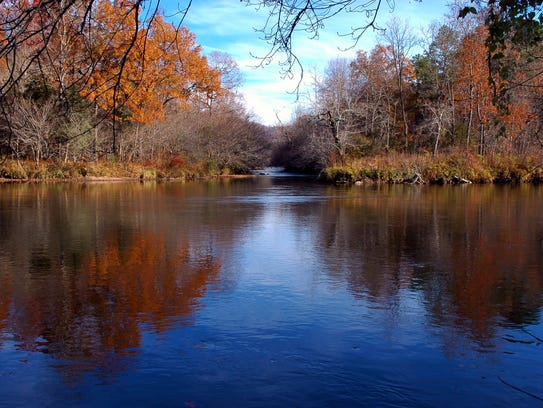 The Little Tennessee River, which runs 95 miles from