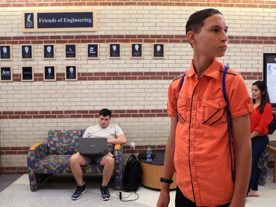 Zachary Diaz, 18, tours Texas A&M University-Corpus Christi as part of the Preparation for Adult Living program for youths who have received services from the Texas Department of Family and Protective Services on Wednesday, July 12, 2017.