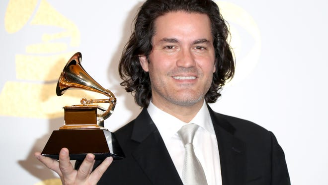 Musician Zuill Bailey, winner of Best Classical Instrumental Solo for 'Daugherty: Tales Of Hemingway,' poses in the press room during The 59th GRAMMY Awards at STAPLES Center on February 12, 2017 in Los Angeles, California.