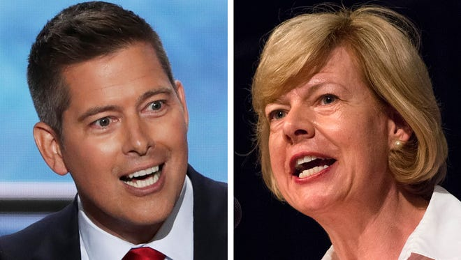 Rep. Sean Duffy, R-Wis., left, is among the GOP candidates expected to take on Sen. Tammy Baldwin, D-Wis., in 2018.