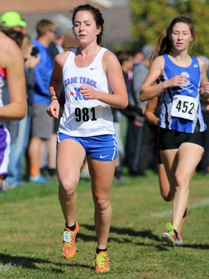 Zane Trace's Ivy Beam competes at the Unioto Invitational, Oct. 8, 2016. Beam will run in the OHSAA State Cross Country Meet Saturday at National Trail Raceway in Hebron, Ohio.