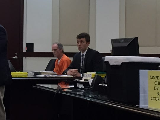 Charles W. Taylor, left, sits with his lawyer, Assistant Public Defender Chris Street-Razbadouski, during a preliminary hearing Thursday, July 7, 2016.
