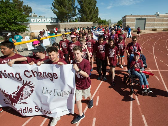 Sierra Middle School Students participate in an inclusive