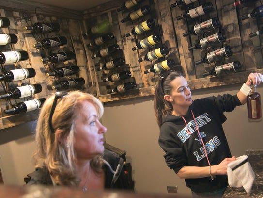 Buon Gusto bartender Rebecca Hampton, left, and Colleen