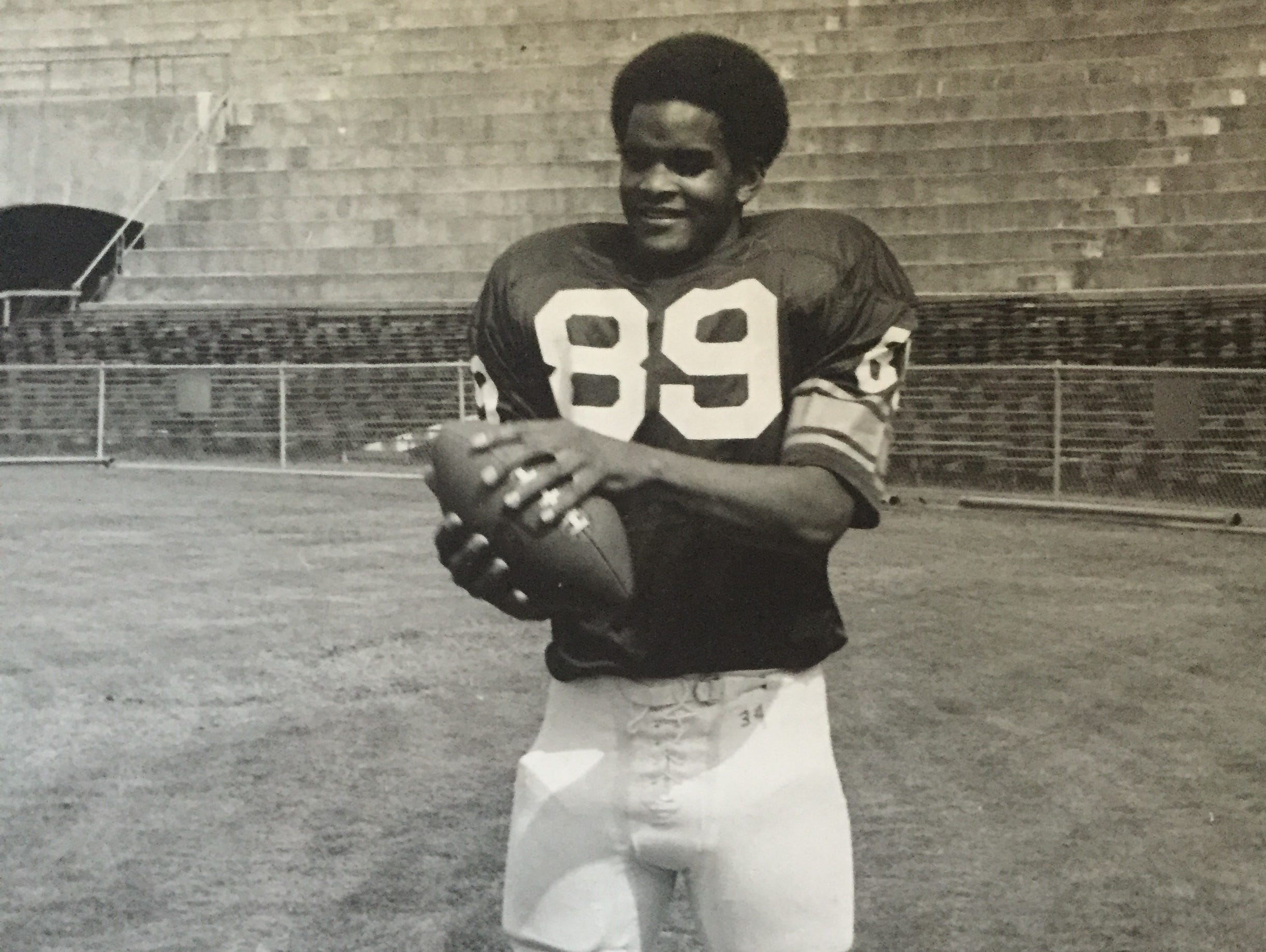 Red Bank's Lonnie Allgood, shown in 1976 after being drafted by the Cincinnati Bengals.