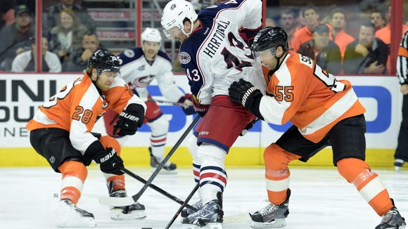 Scott Hartnell's return this time around doesn't have as much luster as last Friday.