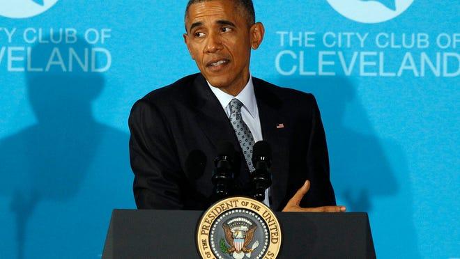President Obama in Cleveland (EPA/DAVID MAXWELL)