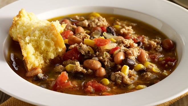 Turkey Taco Chili is ready in 30 minutes.