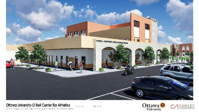 A rendering of the O'Dell Center for Athletics.