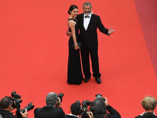 Mel Gibson and his partner Rosalind Ross arrive May