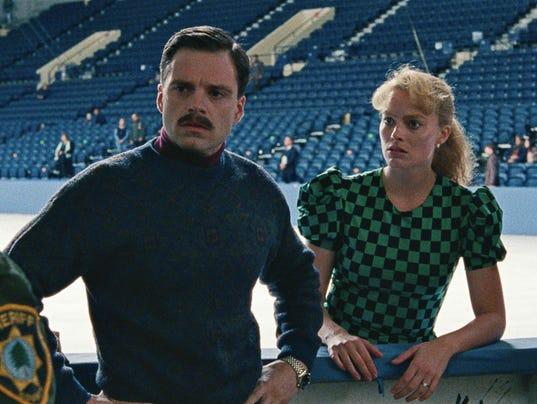 10- Jeff Gillooly (Sebastian Stan), Tonya Harding (Margot Robbie) and Diane Rawl
