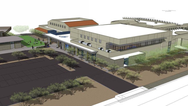 A rendering of the new athletic facility being built at Phoenix Country Day.