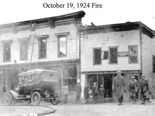 Damage from the Oct. 19, 1924, fire in Bristol.