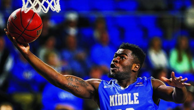 Giddy Potts (20)  is scheduled to return to the floor on Thursday after sitting out due to an academic issue.