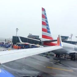 Two planes collide on tarmac at N.Y. airport.