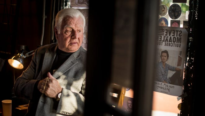 Nelson Leclair, the doorman at 3rd & Lindsley, waits for the doors to open before a concert Friday, May 20, 2016, in Nashville. A former minor league hockey player and coach, Leclair has spent 25 years working at 3rd & Lindsley.