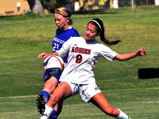 New Mexico State sophomore midfielder/forward Aileen