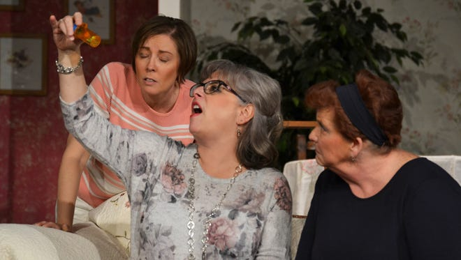 """Laura Buchanan, pictured left, Mary Jo Foos and Abb Stendera star in the Fremont Community Theatre's """"Sex Please, We're Sixty,"""" which opens Friday and runs for two straight weekends."""