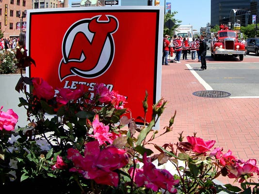 NHL: Stanley Cup Playoffs-New York Rangers at New Jersey Devils