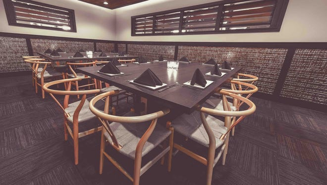 Seating for 20 in the EsterEv dining room is family-style, two tables of 10. The tasting menu restaurant is opening within Dandan, 360 E. Erie St., on Nov. 10.